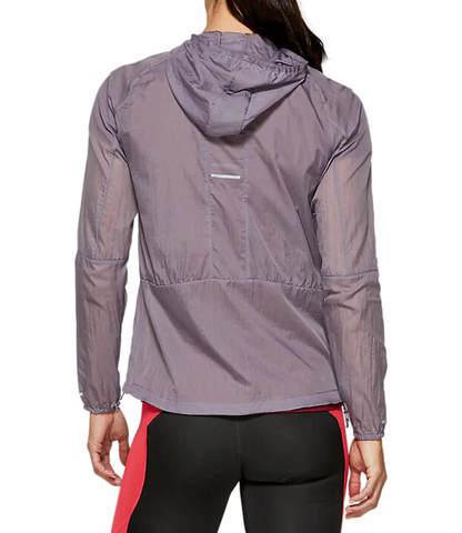 Asics Packable Jacket куртка для бега женская фиолетовая