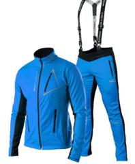 Victory Code Dynamic разминочный лыжный костюм с лямками blue-blue