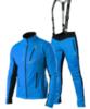 Victory Code Dynamic разминочный лыжный костюм с лямками blue-blue - 1