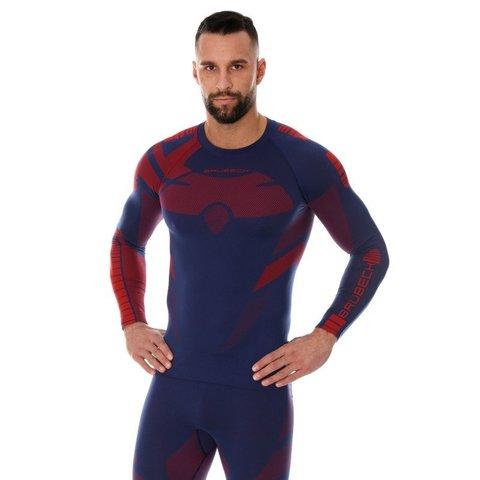 Brubeck Dry термобелье мужское рубашка красно-синяя