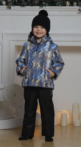 Nordski Kids City детский теплый лыжный костюм синий-желтый