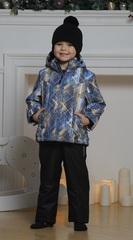 Nordski City Kids детский теплый костюм синий-желтый-черный