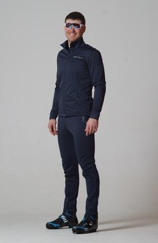 Nordski Motion разминочный лыжный костюм мужской Blueberry