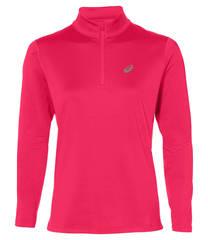 Asics Silver Ls 1/2 Zip Winter беговая рубашка женская розовая