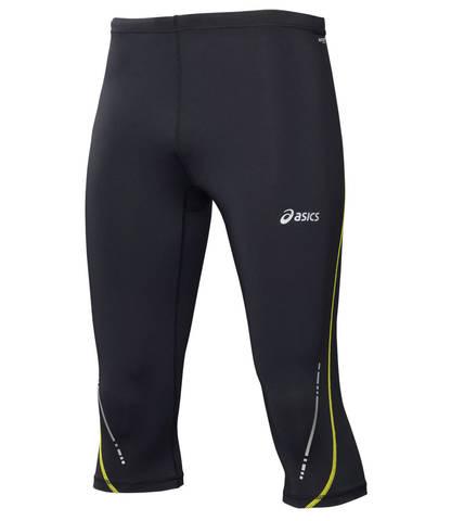 Тайтсы мужские Asics Knee Tight черные-желтые