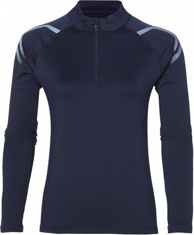 Asics Icon Winter LS 1/2 Zip беговая рубашка женская синяя