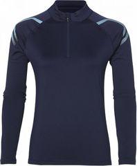 Asics Icon Winter LS 1/2 Zip женская беговая рубашка синяя