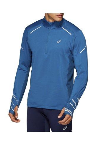Asics Lite-show Winter 1/2 Zip Top рубашка для бега мужская синяя