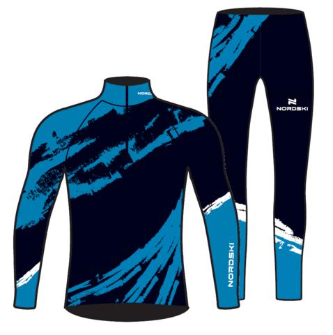 Nordski Premium лыжный гоночный комбинезон deep blue
