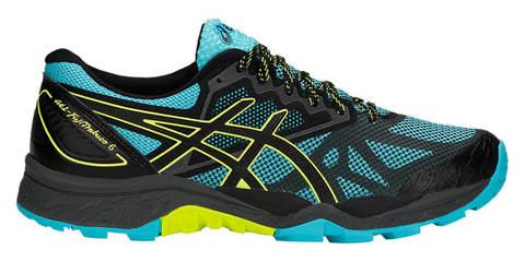 Asics Gel Fujitrabuco 6 кроссовки-внедорожники для бега женские черные-голубые