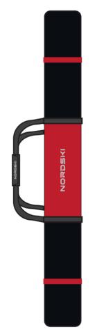 Nordski чехол для лыж 3 пары 195 см black-red