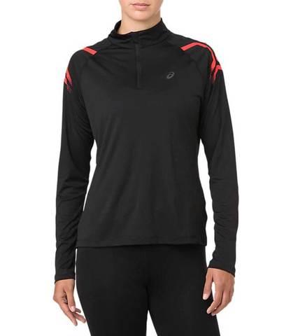 Asics Icon 1/2 Zip LS рубашка для бега женская черная