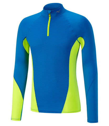 Mizuno Virtual Body G1 Hz термобелье рубашка мужская синяя-желтая