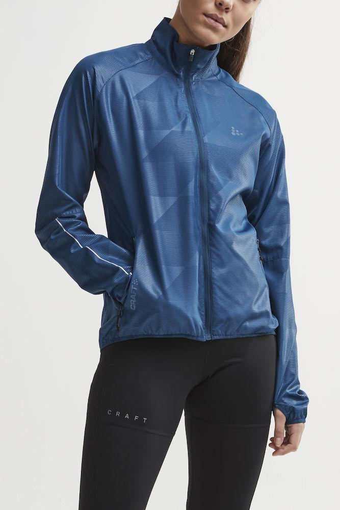 Craft Eaze куртка ветровка для бега женская синяя - 2