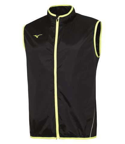 Mizuno Authentic Rain Vest мужской ветрозащитный жилет черный