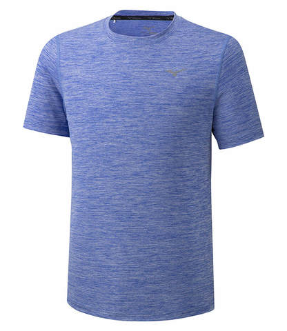 Mizuno Impulse Core Tee беговая футболка мужская голубая