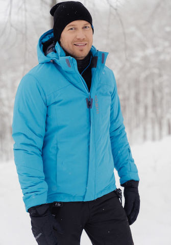 Nordski Mount лыжная утепленная куртка мужская синяя