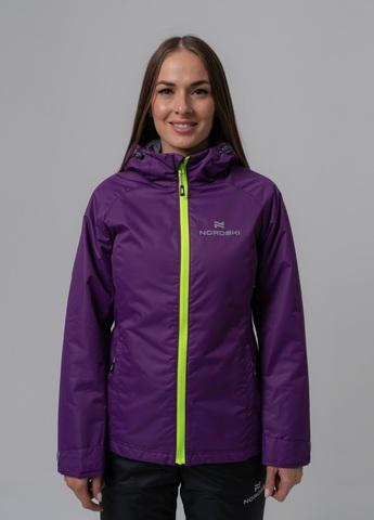 Nordski Light утепленная ветрозащитная куртка женская purple