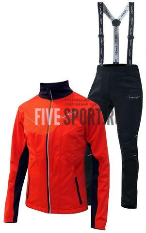 Nordski Premium детский лыжный костюм красный