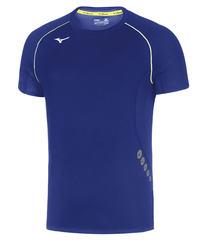 Mizuno Premium Jpn Tee мужская футболка для бега синяя