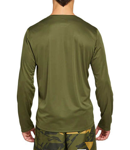 Asics Katakana Ls футболка с длинным рукавом мужская хаки