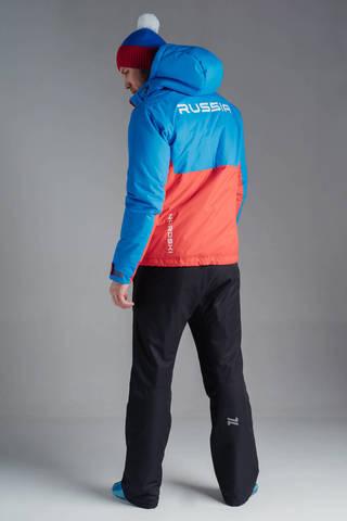 Nordski Montana RUS утепленная куртка мужская синяя-красная
