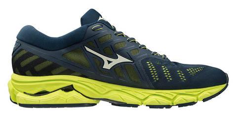 Mizuno Wave Ultima 11 кроссовки для бега мужские синие-желтые