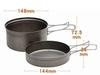 Fire-Maple Horizon 1 набор туристической посуды из титана - 4