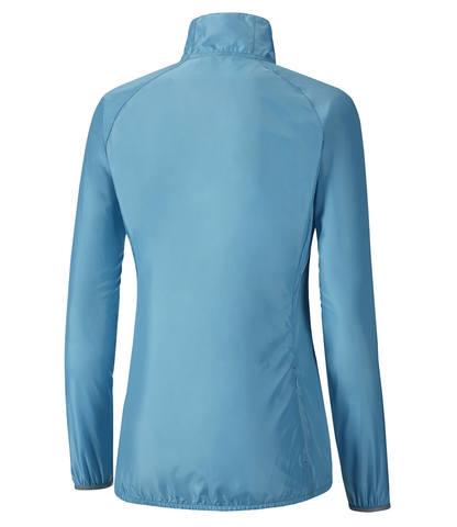 Куртка для бега женская Mizuno Impulse Impermalite голубая