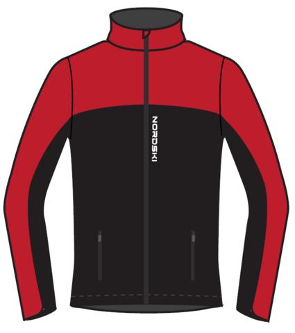 Nordski Active лыжная куртка женская красная-черная