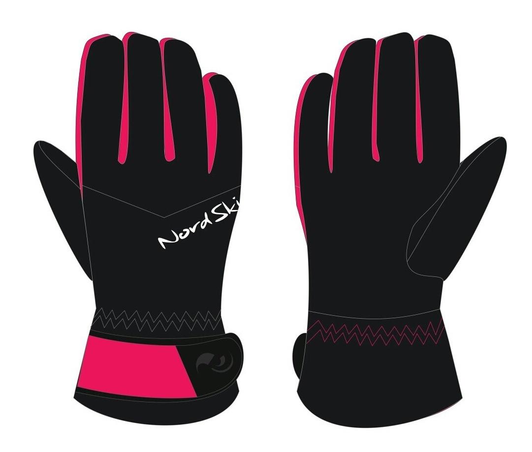 Nordski Jr Arctic Membrane детские перчатки black/raspberry