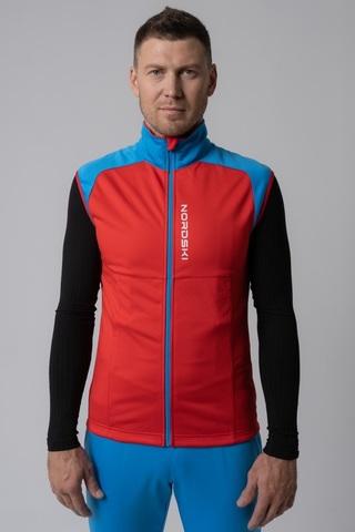 Nordski Premium лыжный жилет мужской red-blue