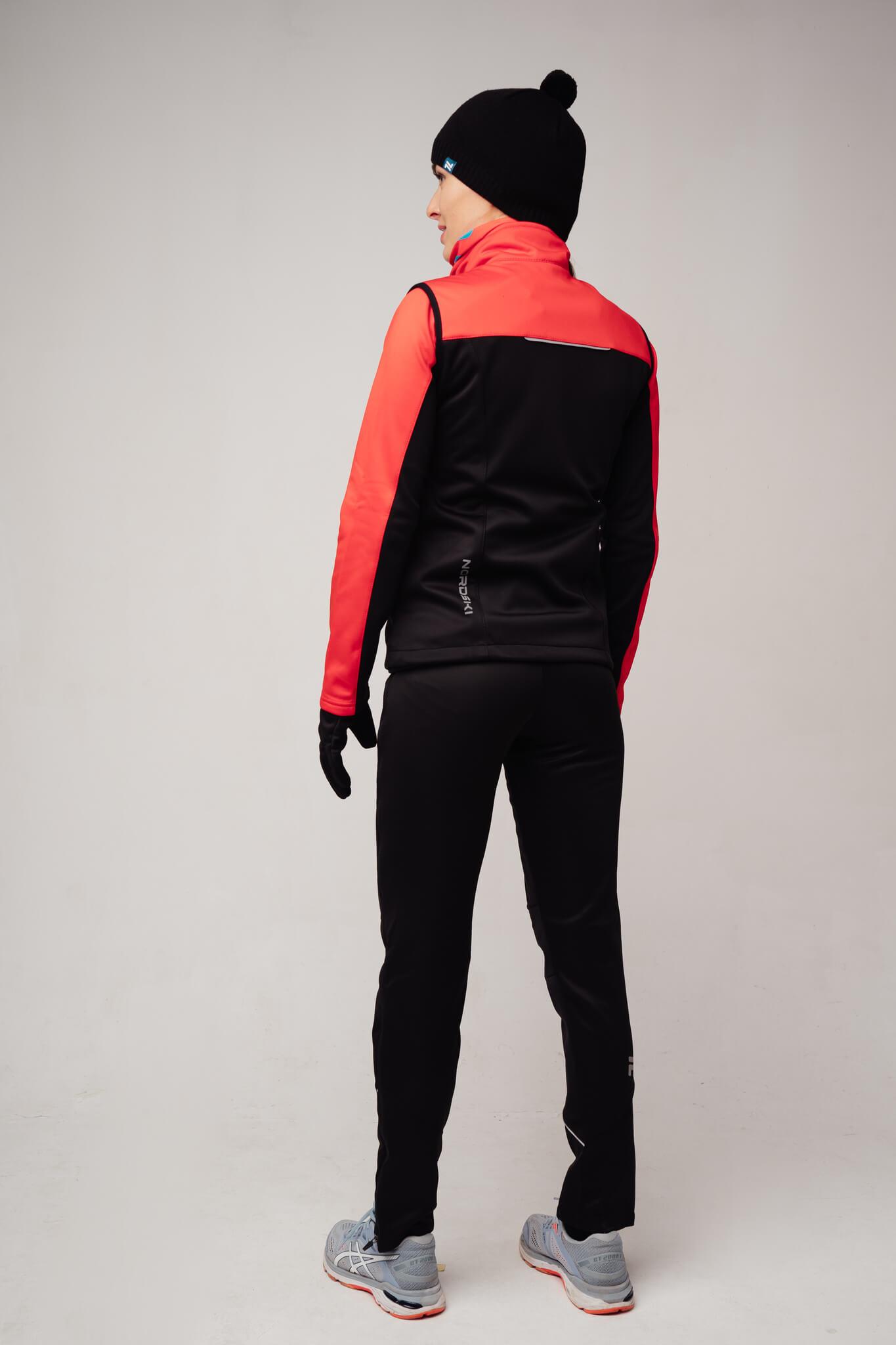 Nordski Active лыжный костюм женский красный-черный - 2