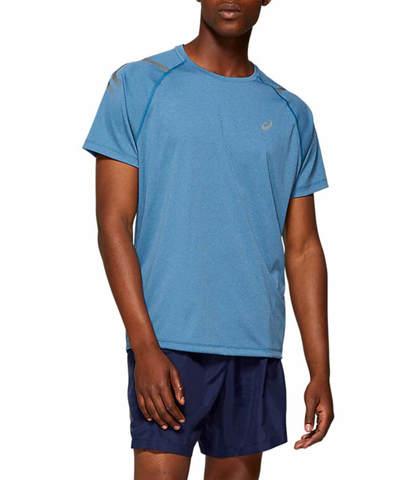 Asics Icon Ss Top футболка для бега мужская голубая