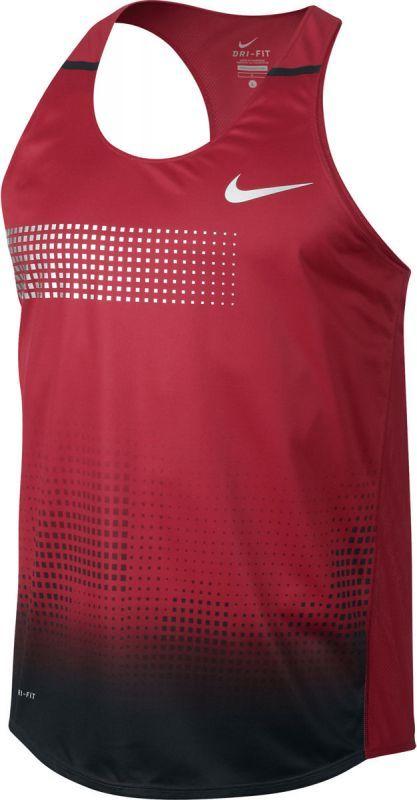 Майка л/а Nike Distance Singlet красная
