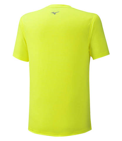 Mizuno Impulse Core Tee беговая футболка мужская желтая