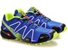 Кроссовки Salomon Speedcross 3 blue lime - 4