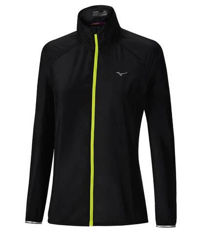 Куртка для бега женская Mizuno Impulse Impermalite черная