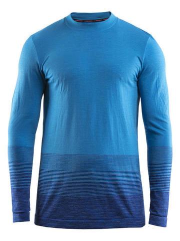 Craft Wool Comfort 2.0 мужское термобелье рубашка синяя