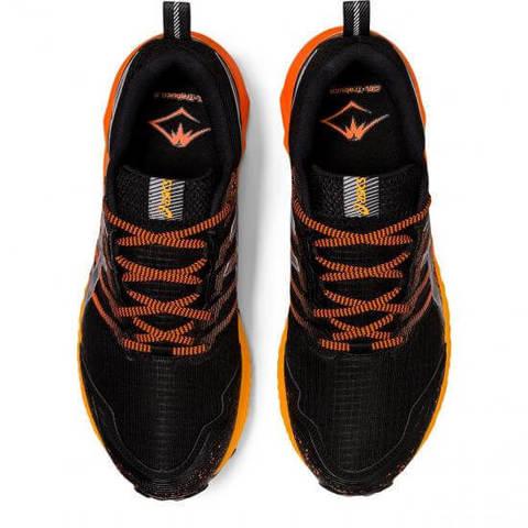 Asics Gel Fujitrabuco 9 GoreTex кроссовки для бега мужские черные-оранжевые (Распродажа)
