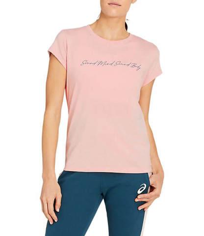 Asics Graphic Tee футболка для бега женская розовая