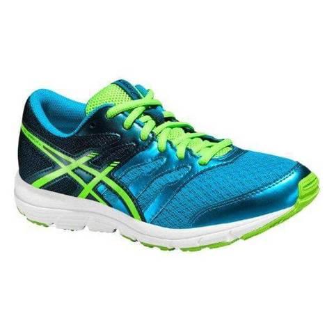 Asics Gel-Zaraca 4 Gs кроссовки для бега подростковые синие-зеленые