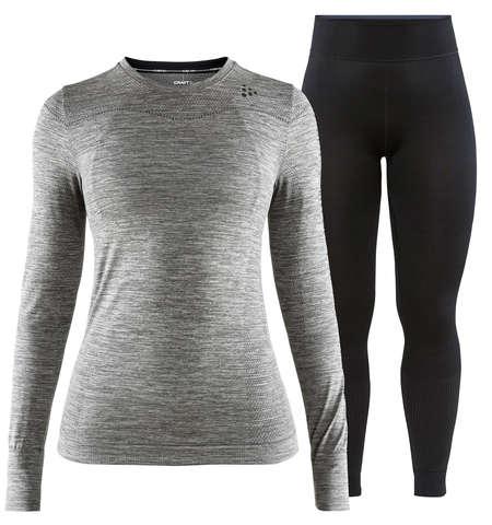Craft Fuseknit Comfort комплект термобелья женский grey-black
