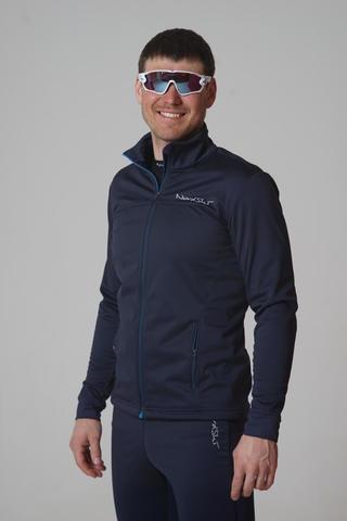 Nordski Motion мужская разминочная куртка blueberry