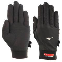 Перчатки для бега Mizuno Wind Guard черные