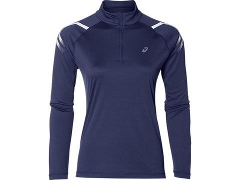 Asics Icon 1/2 Zip LS рубашка для бега женская синяя