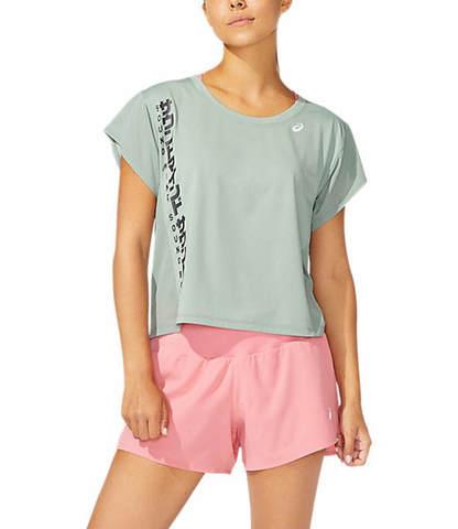 Asics Smsb Run Ss Top футболка для бега женская серая