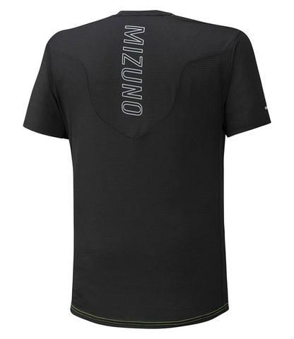 Mizuno Aero Tee беговая футболка мужская черная-оранжевая