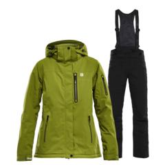 Горнолыжный костюм женский 8848 Altitude Folven Poppy гуакамоли-черный