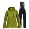Горнолыжный костюм женский 8848 Altitude Folven Poppy гуакамоли-черный - 1